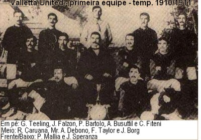 equipe do Valleta United de 1910